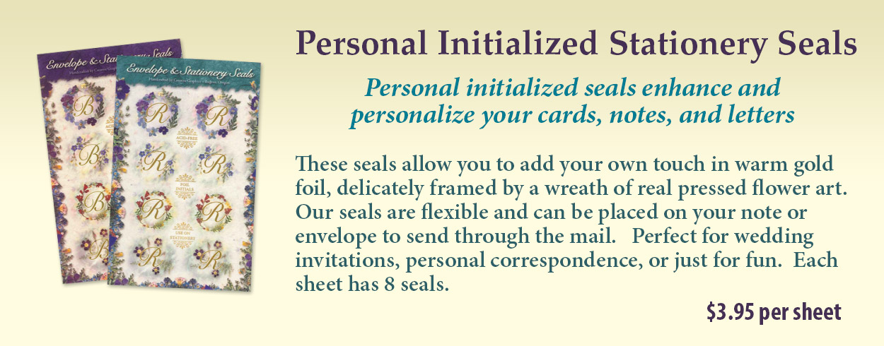 Personal Initialized Stationery Seals