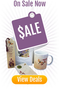 on sale specials mugs stationery bookmarks cards