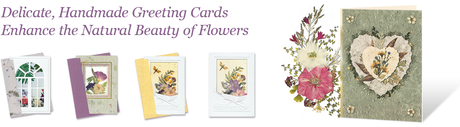 Delicate, Handmade Greeting Cards Enhance the Natural Beauty of Flowers