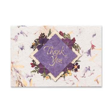 Purple Diamond Thank You Cards Image