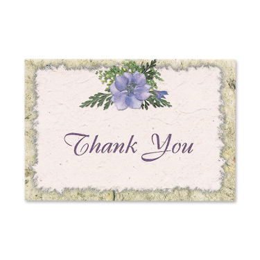 Blue Larkspur Thank You Cards