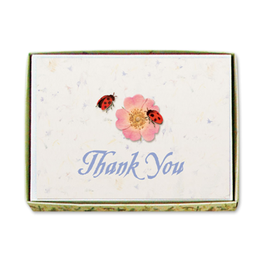 Ladybug Thank You Cards Image