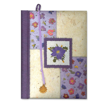 Purple Floral Collage Personal Journal Image