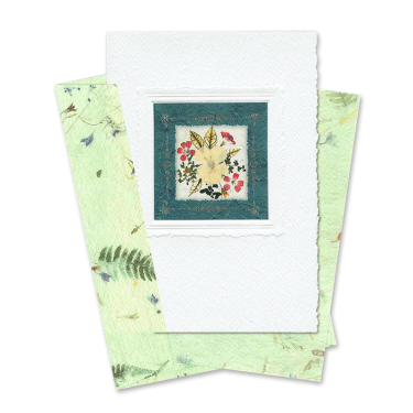 Green Square-Framed Viola Card Image
