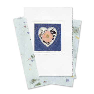 Indigo Heart-Framed Larkspur Card Image