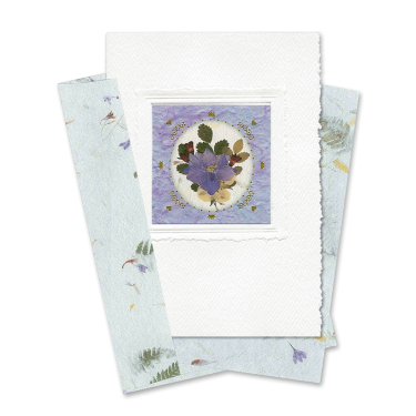 Purple Circle-Framed Larkspur Card Image