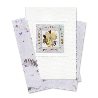 Lilac Square-Framed Viola Scripture Card Image