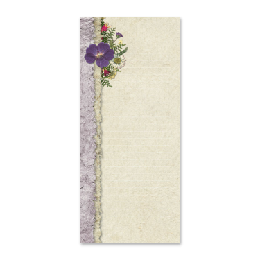 Purple Geranium Notepad Image