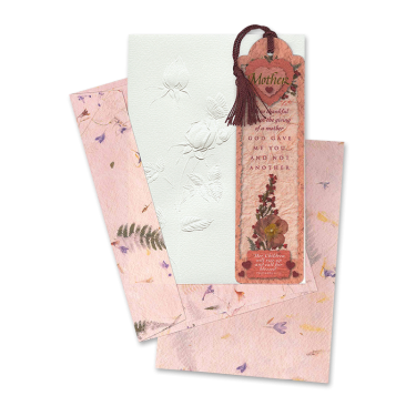 Mother's Day Roses Card with Bookmark Image