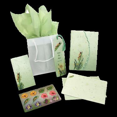 Caterpillar Garden Dweller Stationery Gift Set Image
