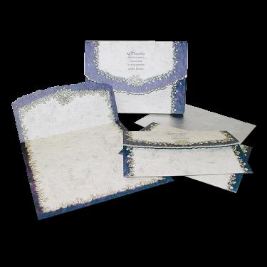 Lavender Trim Floral Postal Note Cards Image