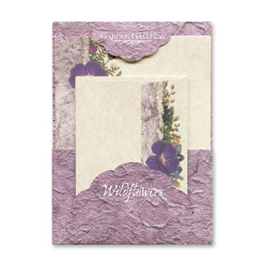 Purple Geranium Wildflower Premium Stationery Image