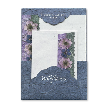 Blue Anagalis Wildflower Premium Stationery Image