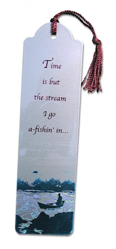 Fisherman Metallic Bookmark