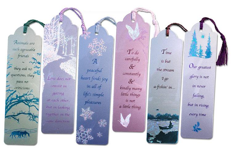 Metallic Bookmark set of 6