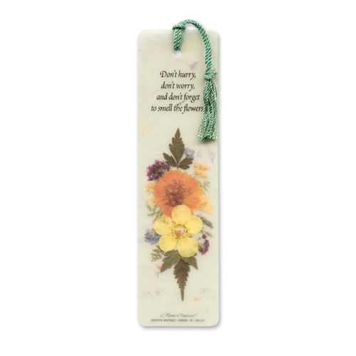 Smell the Flowers Bookmark Image