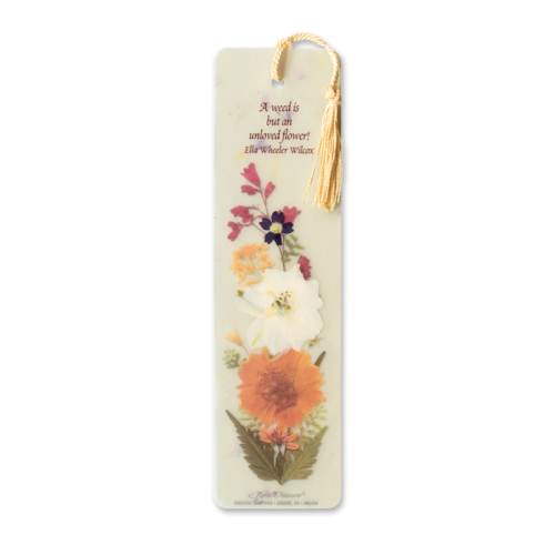 Weed is Unloved Flower Bookmark Photo