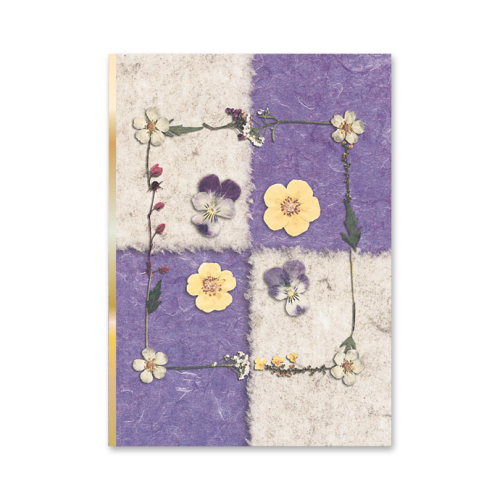 Checkered Violas and Strawberry Note Cards