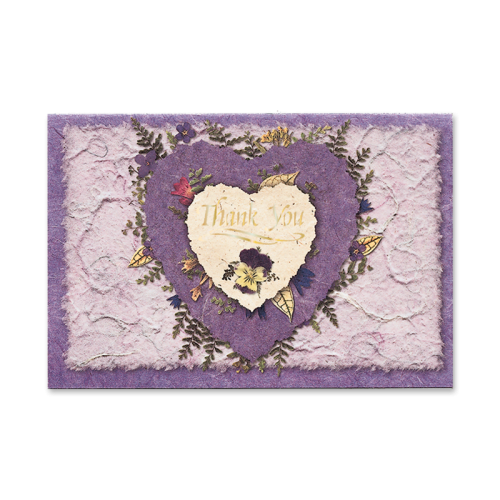 Birch Heart Thank You Cards Image