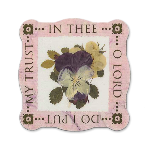In Thee O Lord Scripture Magnet Image