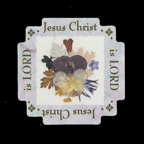 Jesus Christ is Lord Scripture Magnet Image
