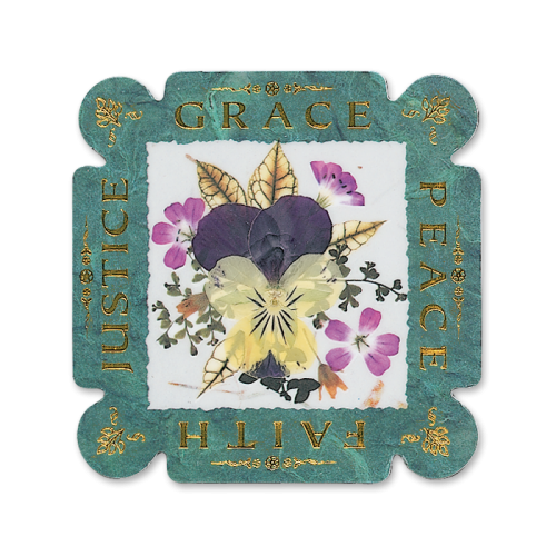 Grace, Peace, Faith, Justice Magnet Image