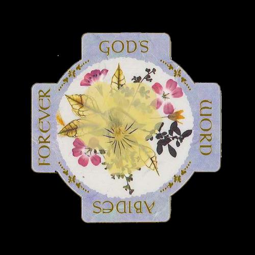 God's Word Abides Scripture Magnet Image
