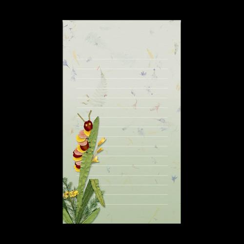 Caterpillar Garden Dweller Mini Notepad Image