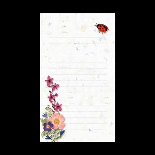 Ladybug Garden Dweller Mini Notepad Image