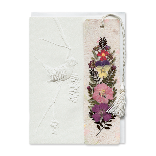 Perched Finch Bookmark Gift Card Image