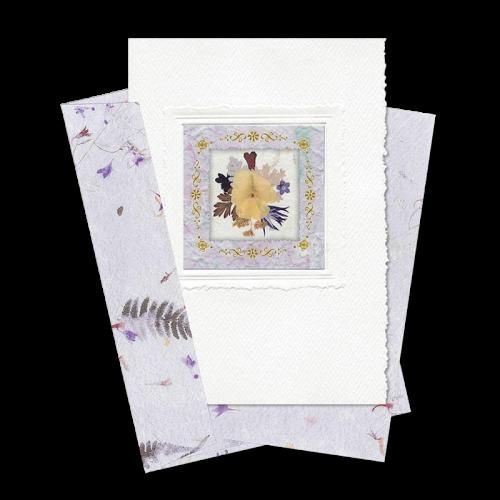 Lilac Square-Framed Viola Card Image
