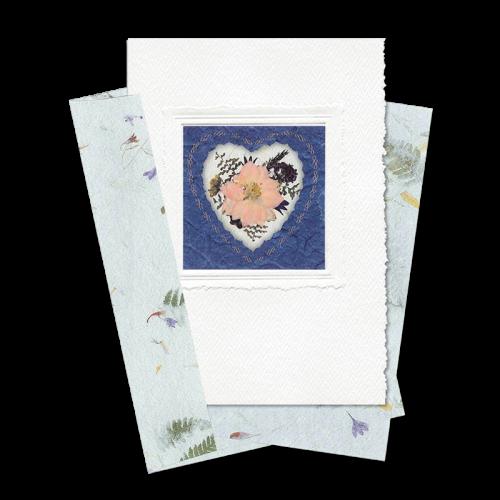 Indigo Heart-Framed Larkspur Card Image