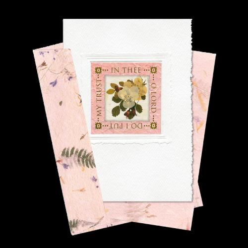 Pink Square-Framed Viola Scripture Card Image