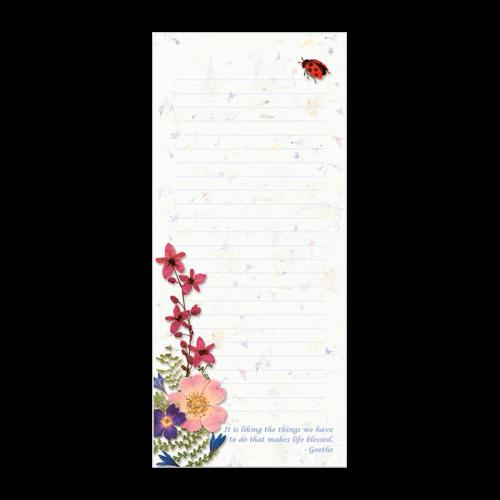 Ladybug Garden Dweller Notepad Photo