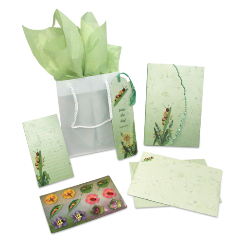 Caterpillar Garden Dweller Stationery Gift Set Image