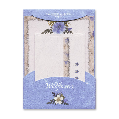 Blue Bouquets Wildflower Premium Stationery Image