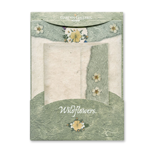 Potentilla and Buttercup Wildflower Premium Stationery Image